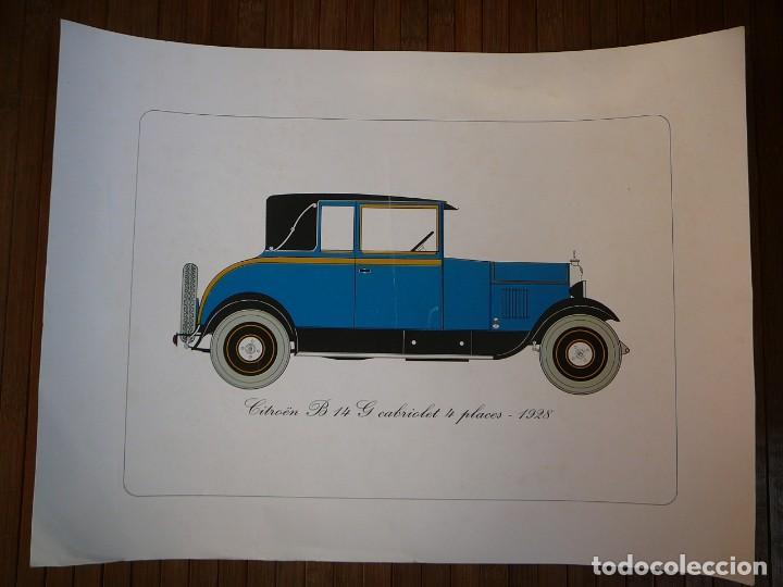 LÁMINA CITROEN B14 G CABRIOLET 4 PLAZAS DESCAPOTABLE - 1928 (Coches y Motocicletas - Coches Antiguos (hasta 1.939))