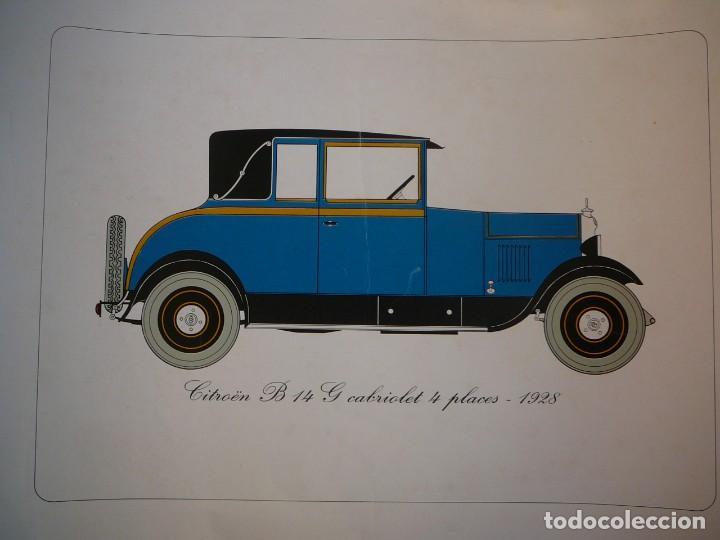 Coches: Lámina Citroen B14 G cabriolet 4 plazas descapotable - 1928 - Foto 2 - 147498330