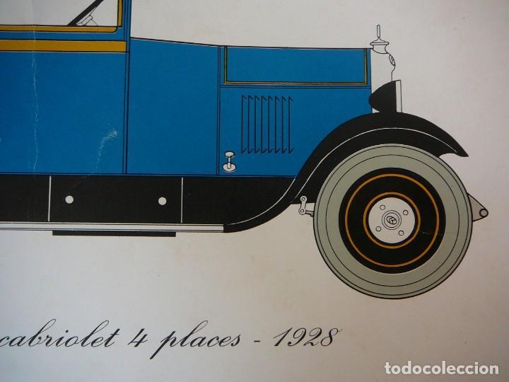 Coches: Lámina Citroen B14 G cabriolet 4 plazas descapotable - 1928 - Foto 4 - 147498330