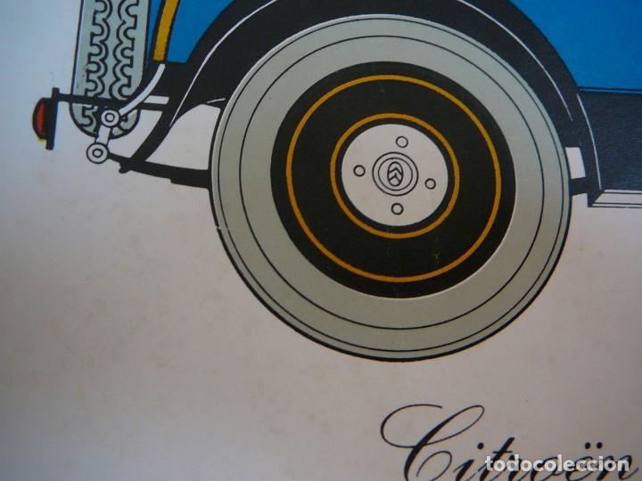 Coches: Lámina Citroen B14 G cabriolet 4 plazas descapotable - 1928 - Foto 8 - 147498330