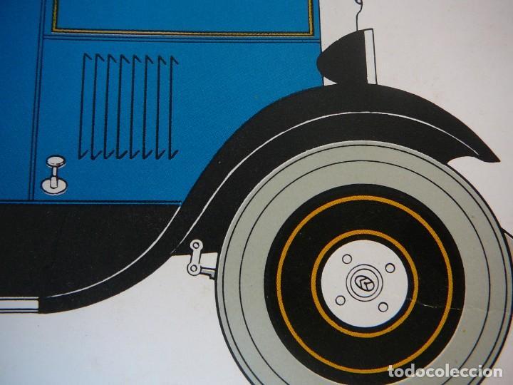 Coches: Lámina Citroen B14 G cabriolet 4 plazas descapotable - 1928 - Foto 9 - 147498330