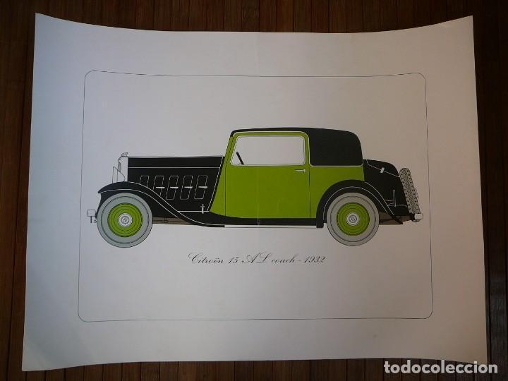 LÁMINA CITROEN 15 AL COACH - 1932 (Coches y Motocicletas - Coches Antiguos (hasta 1.939))