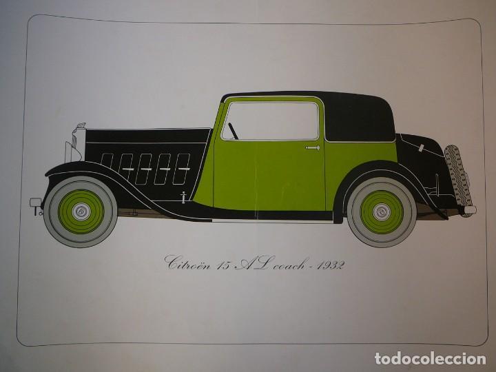 Coches: Lámina Citroen 15 AL coach - 1932 - Foto 2 - 147508706