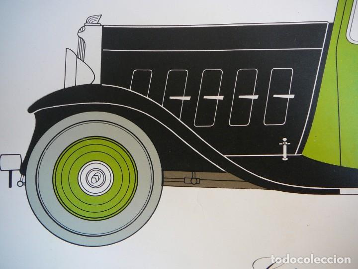 Coches: Lámina Citroen 15 AL coach - 1932 - Foto 3 - 147508706