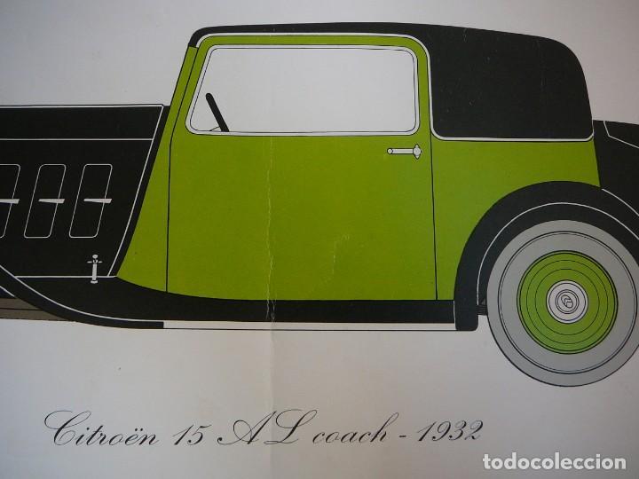 Coches: Lámina Citroen 15 AL coach - 1932 - Foto 4 - 147508706