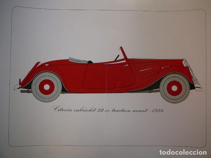Coches: Lámina Citroen cabriolet 22 cv tracción delantera - 1934 - Foto 3 - 147512414