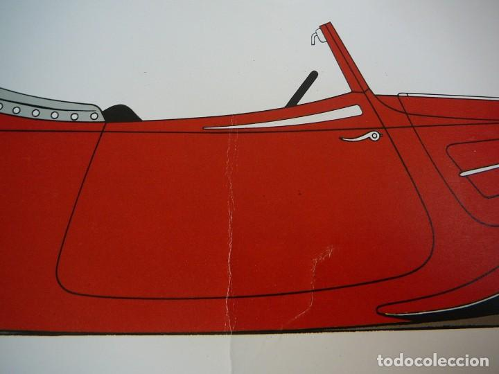 Coches: Lámina Citroen cabriolet 22 cv tracción delantera - 1934 - Foto 4 - 147512414