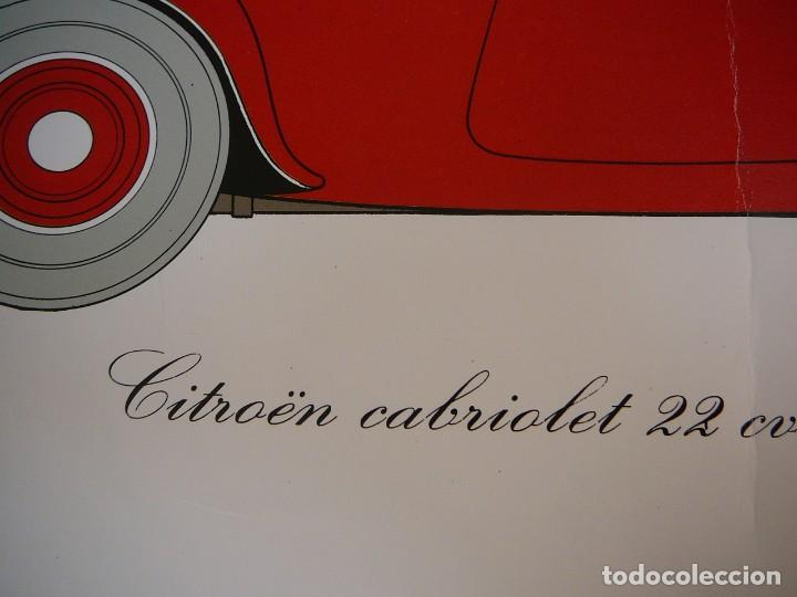 Coches: Lámina Citroen cabriolet 22 cv tracción delantera - 1934 - Foto 6 - 147512414