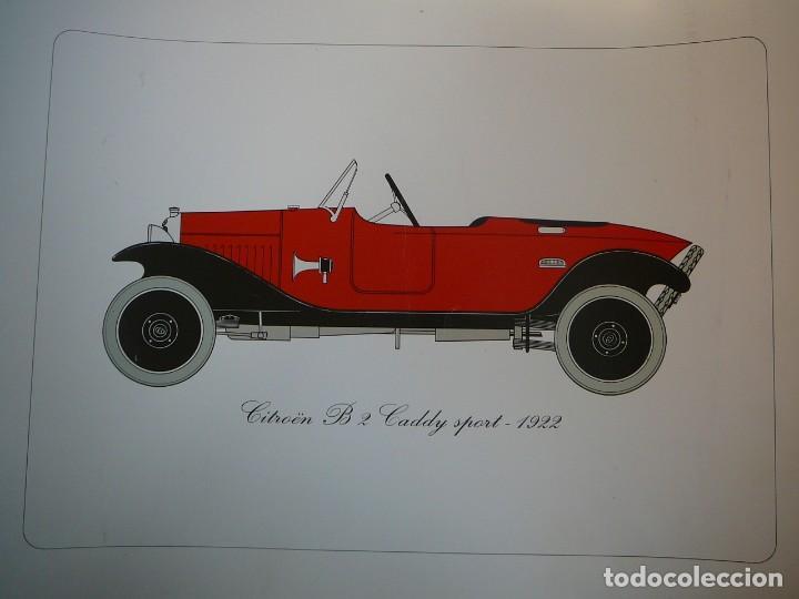Coches: Lámina Citroen B 2 Caddy sport - 1922 - Foto 2 - 147520770