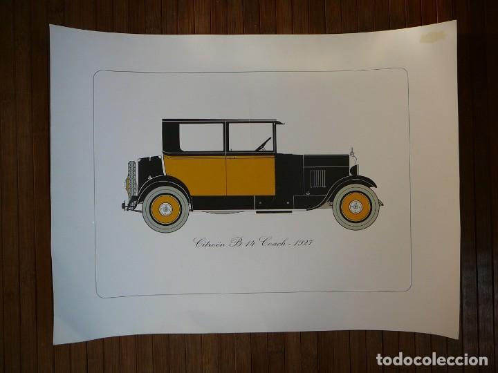 LÁMINA CITROEN B 14 COACH - 1927 (Coches y Motocicletas - Coches Antiguos (hasta 1.939))