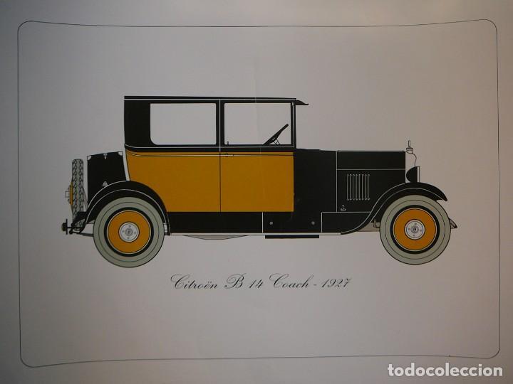 Coches: Lámina Citroen B 14 coach - 1927 - Foto 2 - 147529054