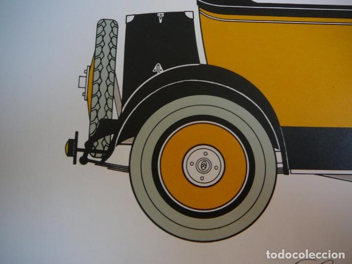 Coches: Lámina Citroen B 14 coach - 1927 - Foto 3 - 147529054