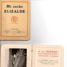 Coches: CARNET DE PROPIETARIO DE AUTOMOVIL ELIZALDE 1925.. Lote 153706366