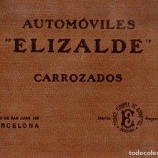 Coches: 1922 ELIZALDE AUTOMOVILES CATALOGO DE CARROCERIAS. Lote 153710714