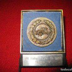 Coches: PLACA RALLYE COCHES ANTIGUOS SORIA. Lote 155478914