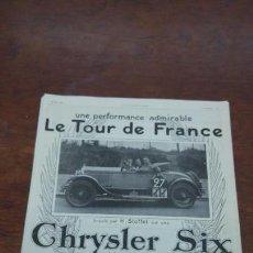 Coches: CHRYSLER SIX IMPERIAL AUTOMOVILES ANTIGUOS LOTE 7 HOJAS PUBLICIDAD REVISTAS 1925-1926-1927-1929. Lote 155676314