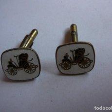 Coches: ELEGANTES GEMELOS PARA CAMISA. VINTAGE, MODA, COCHES. . Lote 167456604