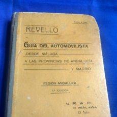 Coches: GUÍA DEL AUTOMOVILISTA REVELLO 1924. Lote 199457166