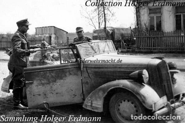 Coches: Insignia de un Opel Super 6 1936-38. Wehrmacht II Guerra Mundial - Foto 7 - 202875188