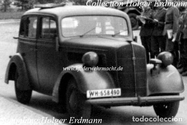 Coches: Insignia de un Opel Super 6 1936-38. Wehrmacht II Guerra Mundial - Foto 9 - 202875188
