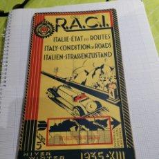 Coches: MAPA DE CARRETERAS DE ITALIA R. A. C. I 1935. Lote 204215678