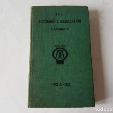 Coches: THE AUTOMOVILE ASSOCIATION HANDBOOK 1934-1935.. Lote 205447408