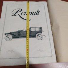 Coches: CARTEL PUBLICIDAD DE RENAULT EN UNA REVISTA ANTIGUA LA ESFERA 1914. Lote 206429077