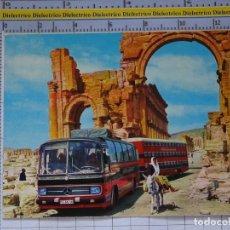 Coches: POSTAL DE COCHES MOTOS. AUTOBÚS MERCEDES HOTELES VIAJES ROTEL TOURS. 966. Lote 210255010