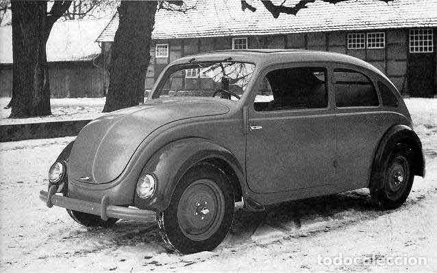 Coches: 1º PROTOTIPO MAQUETA Volkswagen BEETLE V1..1934 de FERDINAND PORSCHE para ADOLF HITLER.. único. - Foto 6 - 212564175