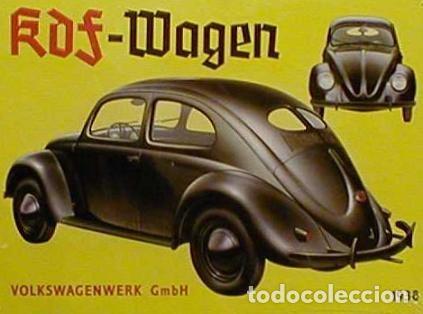 Coches: 1º PROTOTIPO MAQUETA Volkswagen BEETLE V1..1934 de FERDINAND PORSCHE para ADOLF HITLER.. único. - Foto 7 - 212564175