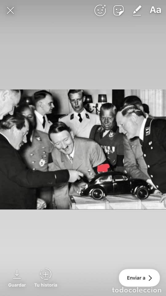 Coches: 1º PROTOTIPO MAQUETA Volkswagen BEETLE V1..1934 de FERDINAND PORSCHE para ADOLF HITLER.. único. - Foto 8 - 212564175