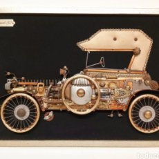 Coches: CUADRO COLLAGE ARTESANAL PEUGEOT 1912. Lote 222481203