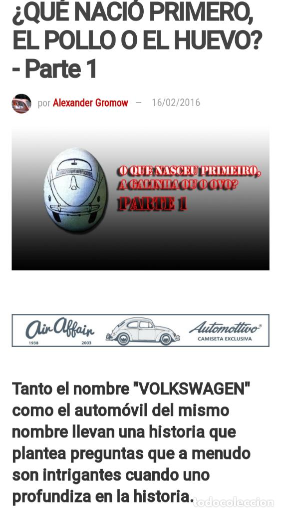 Coches: 1º PROTOTIPO MAQUETA Volkswagen BEETLE V1..1934 de FERDINAND PORSCHE para ADOLF HITLER.. único. - Foto 19 - 212564175