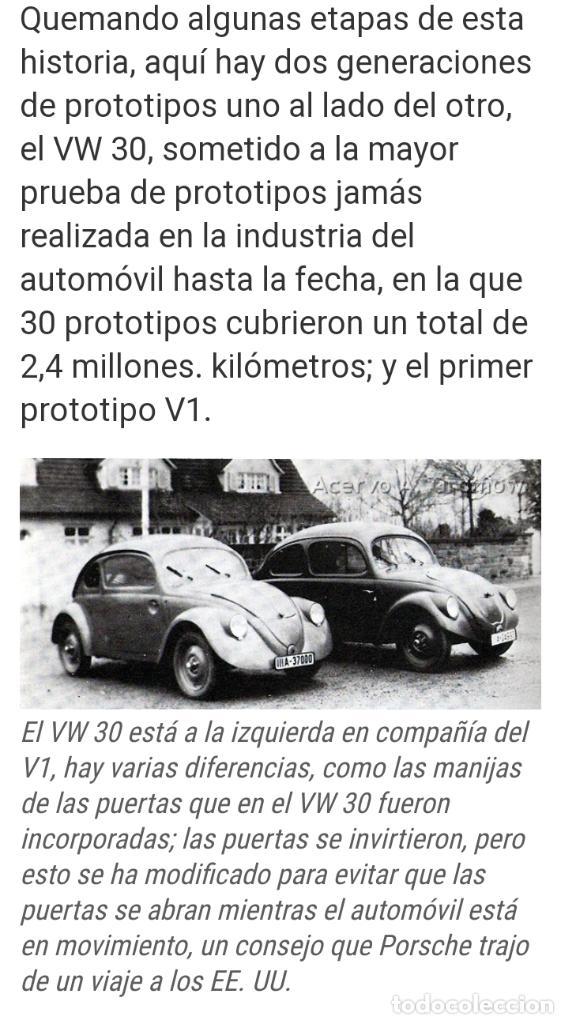 Coches: 1º PROTOTIPO MAQUETA Volkswagen BEETLE V1..1934 de FERDINAND PORSCHE para ADOLF HITLER.. único. - Foto 24 - 212564175