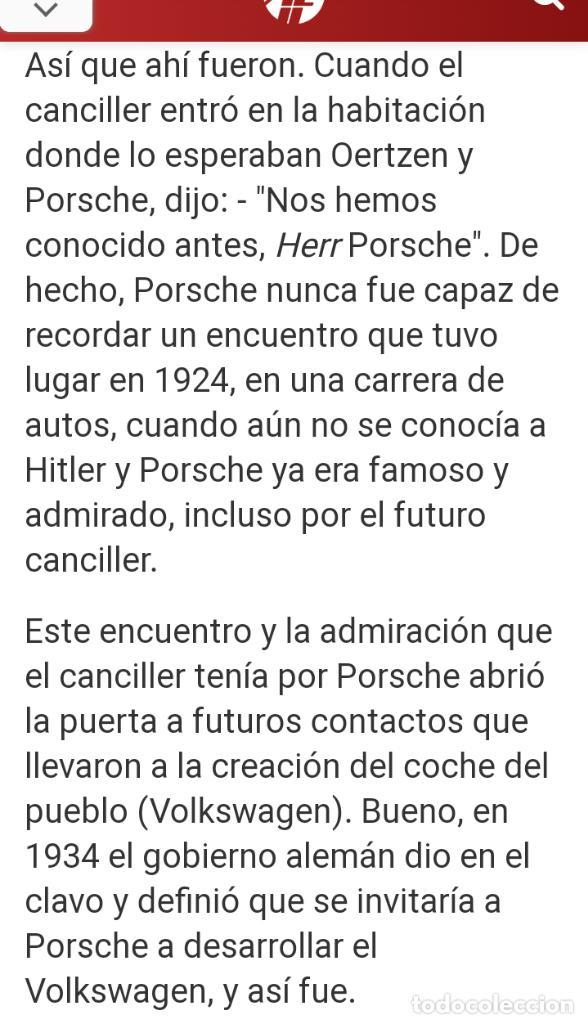 Coches: 1º PROTOTIPO MAQUETA Volkswagen BEETLE V1..1934 de FERDINAND PORSCHE para ADOLF HITLER.. único. - Foto 21 - 212564175