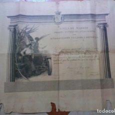 Auto: PRIMERA EXPOSICIÓN INTERNACIONAL DEL AUTOMOVILISMO CICLISMO Y DEPORTES MADRID 1907 JEREZ RIVERO CZ. Lote 225267708