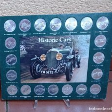 """Coches: ANTIGUO EXPOSITOR SHELL OIL CON 20 MONEDAS """"HISTORIC CARS FROM SHELL"""". Lote 264957439"""