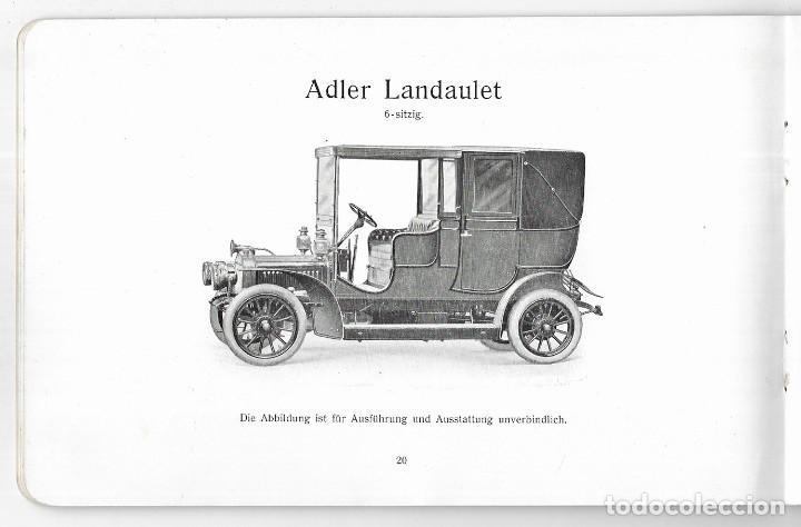 Coches: Adler Automobile 1908. Adlerwerke vorm. Heinrich Kleyer A.G. Frankfurt am Main - Foto 4 - 272254908