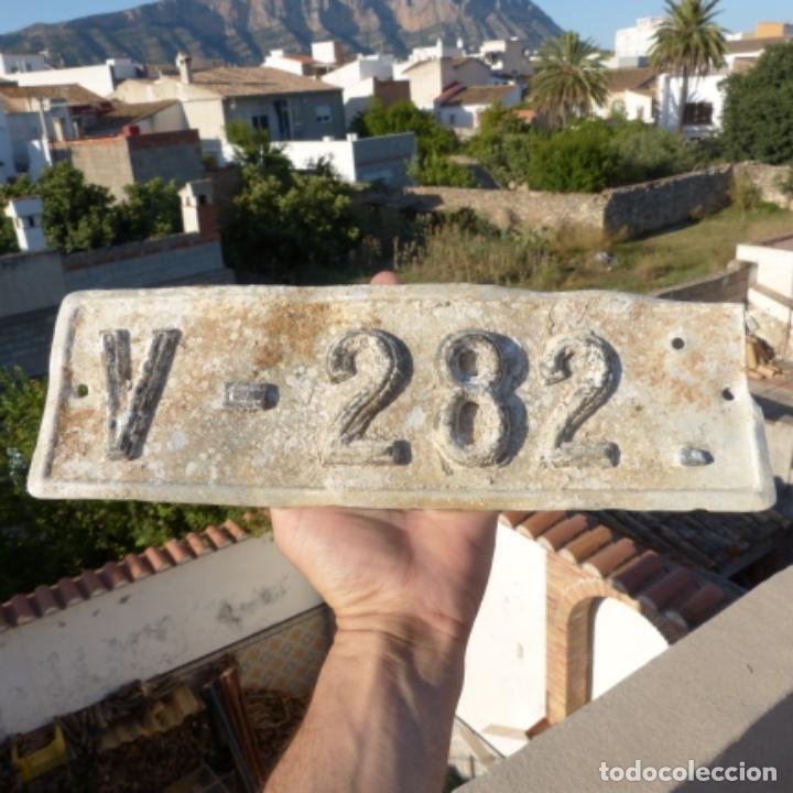 ANTIGUA PLACA DE MATRICULA DE AUTOMÓVIL VALENCIA 1924 (Coches y Motocicletas - Coches Antiguos (hasta 1.939))