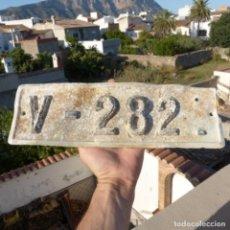 Coches: ANTIGUA PLACA DE MATRICULA DE AUTOMÓVIL VALENCIA 1924. Lote 272984793