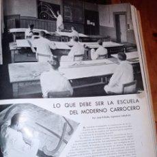 Coches: ARTÍCULO SOBRE CARROCERÍAS DE COCHE. LO QUE UN MODERNO CARROCERO DEBE SER. 1935. INGENIERÍA. FORD. Lote 275217993