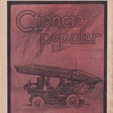 Coches: BOMBEROS -REVISTA BARCELONESA CON ILUSTRACIONES- CIENCIA POPULAR - 2 MARZO 1907 - VEHÍCULOS. Lote 276262428