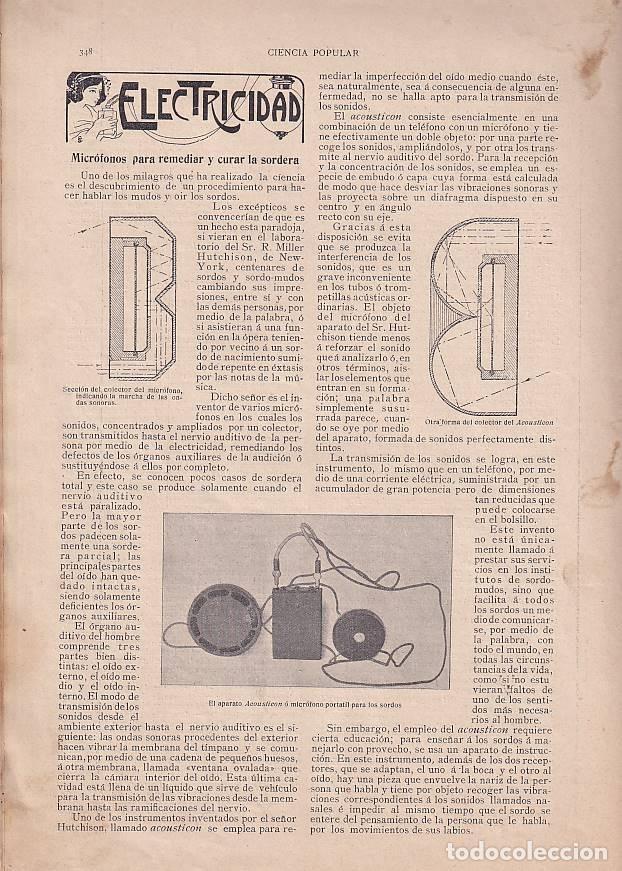 Coches: Bomberos -REVISTA BARCELONESA con ilustraciones- CIENCIA POPULAR - 2 marzo 1907 - vehículos - Foto 3 - 276262428