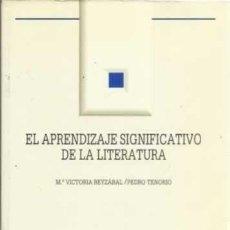Coches: EL APRENDIZAJE SIGNIFICATIVO DE LA LITERATURA. Lote 283764063