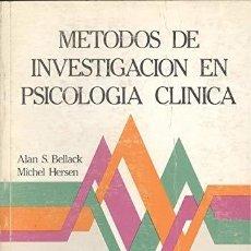 Coches: METODOS DE INVESTIGACION EN PSICOLOGIA CLINICA. Lote 283901813