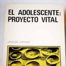 Coches: EL ADOLESCENTE PROYECTO VITAL. Lote 283919278