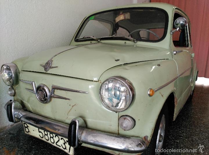 SEAT 600 B-5... UBICADO EN TERRASSA COLOR VERDE OLIVA MOTOR REPASADO (Coches y Motocicletas - Coches Clásicos (a partir de 1.940))