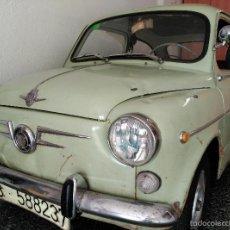 Coches: SEAT 600 B-5... UBICADO EN TERRASSA COLOR VERDE OLIVA MOTOR REPASADO. Lote 26898010