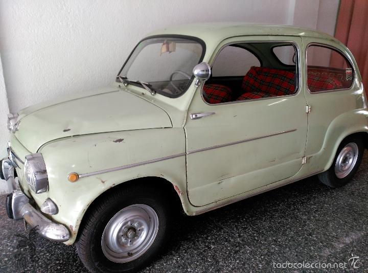 Coches: SEAT 600 B-5... UBICADO EN TERRASSA COLOR VERDE OLIVA MOTOR REPASADO - Foto 2 - 26898010