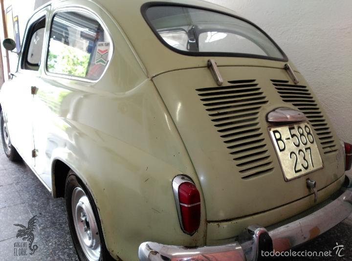 Coches: SEAT 600 B-5... UBICADO EN TERRASSA COLOR VERDE OLIVA MOTOR REPASADO - Foto 3 - 26898010